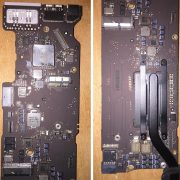 close-front-Faulty-Logic-Board-Motherboard-No-power-to-LCD-backlight-MacBook-Air-Core-i5-1.3-13-Mid-2013-MD760LL-a-A1466-EMC-2632MacBookAir6-2
