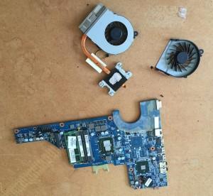 CPU heatsink and fan cleaning Sheffield laptop repair