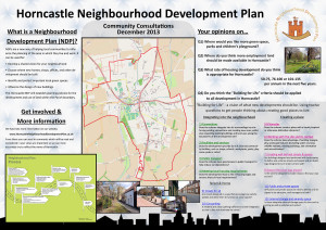 A1 poster created for the Horncastle Neighbourhood Development Plan