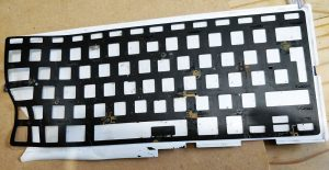 Removing the keyboard backlight.